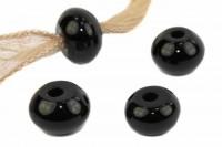 Button mit 3mm Bohrung, 14mm, Onyx