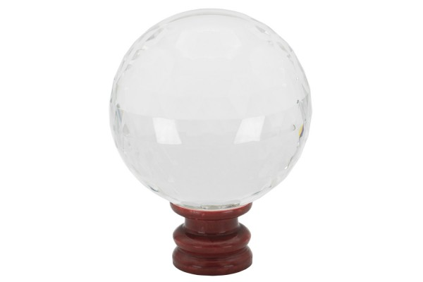 Kristallkugel facettiert 110mm synthetisch