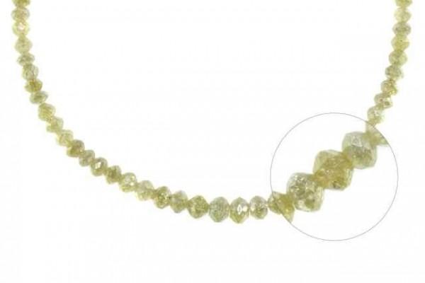 Rondellenstrang facettiert 2,8-5mm/42cm, Diamant champagner