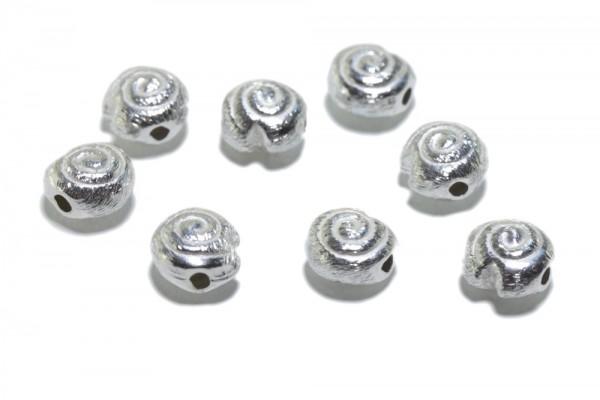 3 mm WÜRFEL;  925 Silber; gerade gebohrt 3 Stück