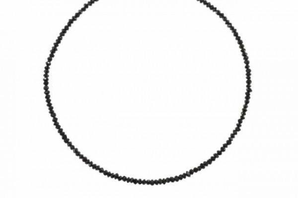 Rondellenstrang facettiert 2-2,2mm/42cm, schwarzer Diamant