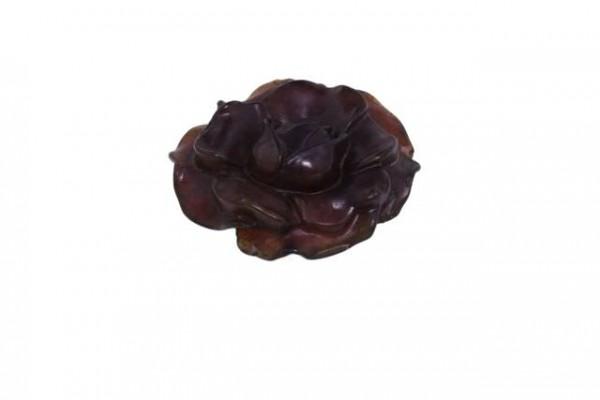Rosen-Medaillon 42-44mm, gebr.Jade