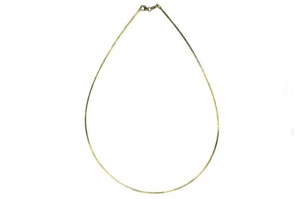 Omega-Reif D-cut 1,2mm/42cm, Silber 925 vergoldet