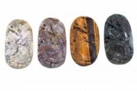 Drachenschildkröten-Amulett mit 1mm Bohrung, 32x50mm, Achat