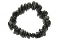 Nugget-Armband 10-15mm/18-19cm, Turmalin schwarz