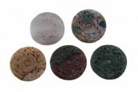 Drache+Phönix-Amulett mit 1mm Bohrung, 45mm, Achat