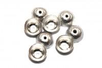 Halbkugel 10mm mit 1,5mm-Loch, AG 925 gebürstet