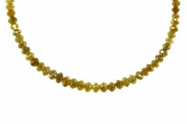 Rondellenstrang facettiert 2,8-3,8mm/18,5cm, Diamant gelb