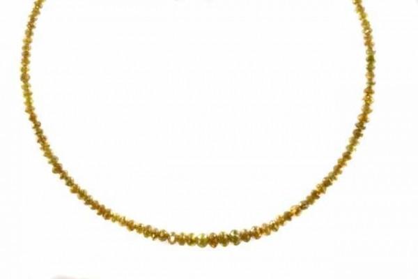 Rondellenstrang facettiert 1,5-3,3mm/39cm, Diamant gelb