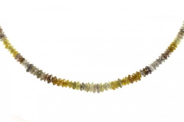 Linsenstrang facettiert 1,8-3,6mm/41cm, Diamant multicolor