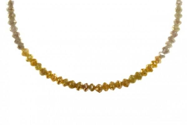Buttonstrang facettiert 3,5-3,9mm/40cm, Diamant multicolor