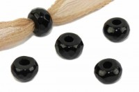 fac. Button mit 3mm Bohrung, 8mm, Onyx
