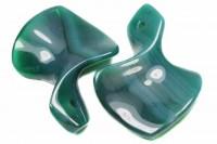 Pfeilspitze 38x55m gedreht mit 3mm-Bohrung, Achat grün gefärbt