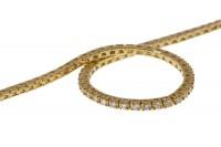Armband geflochten 5mm/18cm Gelbgold und Weißgold 18K