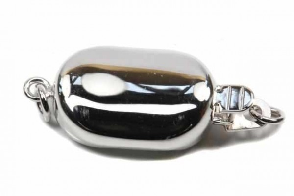 Bohnen-Schließe 9x23mm mit Ring, WG 14k poliert