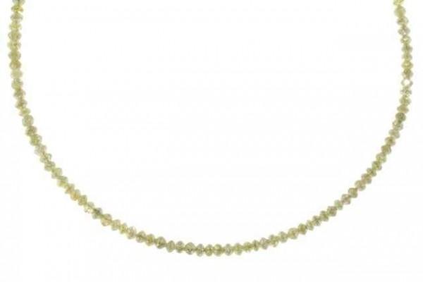 Rondellenstrang facettiert 2-2,5mm/43cm, Diamant champagner