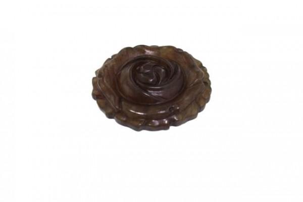 Rosen-Medaillon 43mm, gebr.Jade