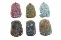 Affe-Amulett mit 1mm Bohrung, 30x50mm, Achat