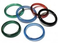 Achat Ring gefärbt 3mm, gemischt