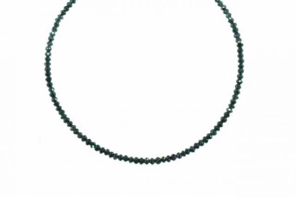 Buttonstrang facettiert 2,1-2,5mm/42cm, Diamant blau/grün behandelt