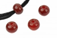 Button mit 3mm Bohrung, 14mm, Karneol