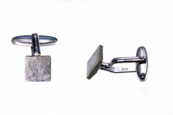 Manschettenknöpfe quadratisch 10mm, Eisenmeteorit (Muonionalusta)