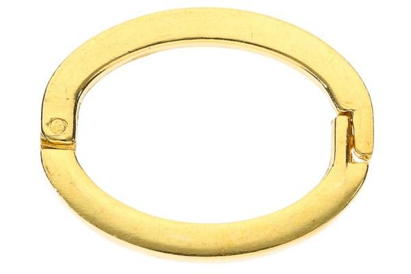 Ketten-Doppler 20x26mm für Splitterkette, Metall goldfarben nickelfrei