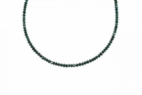 Buttonstrang facettiert 2,5-2,6mm/42cm, Diamant blau/grün behandelt