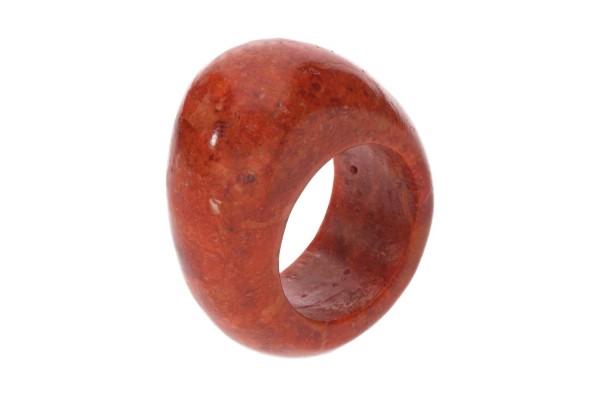Big Head-Ring Größe 52, 26x31x12mm, Schaumkoralle