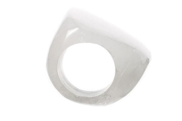 S-Shape-Ring ca.25x30-35mm, Größe 62, Bergkristall