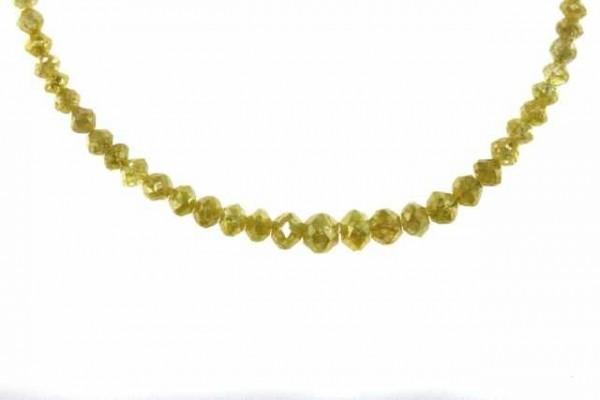 Rondellenstrang facettiert 2,3-5mm/42,5cm, Diamant gelb
