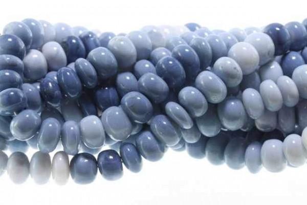 Buttonstrang 9-11mm/42cm, blauer Opalith (Oregon)