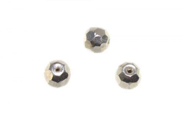Kugel 8mm facettiert 64-cut mit 1,5mm-Loch, AG 925 poliert