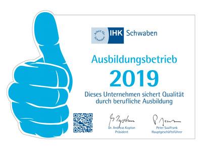 IHK - 2019 Ausbildungsbetrieb