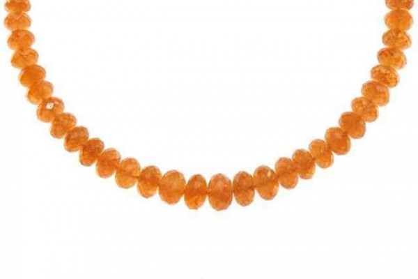Buttonstrang fac. 3,5-6,5mm/44cm, Mandarin-Granat