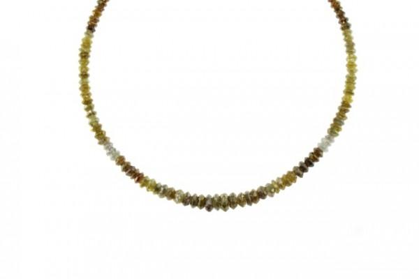 Linsenstrang facettiert 2,1-5mm/40cm, Diamant multicolor