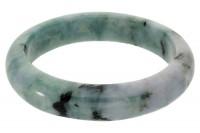 Armreif 14,5mm/62mm Innendurchmesser halbrund, Jade