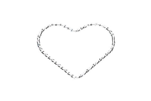 Herz-Anhänger 20x16mm gedreht aus Silber 925