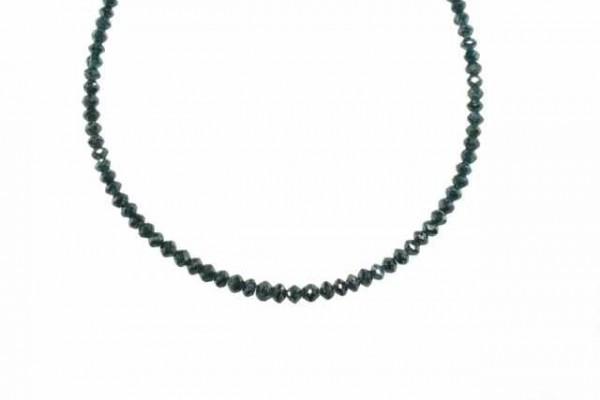 Buttonstrang facettiert 2,6-3,7mm/42cm, Diamant blau/grün behandelt