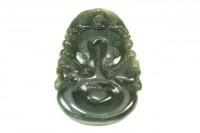Medaillon Guan Yin 20-35mm, Burma-Jade