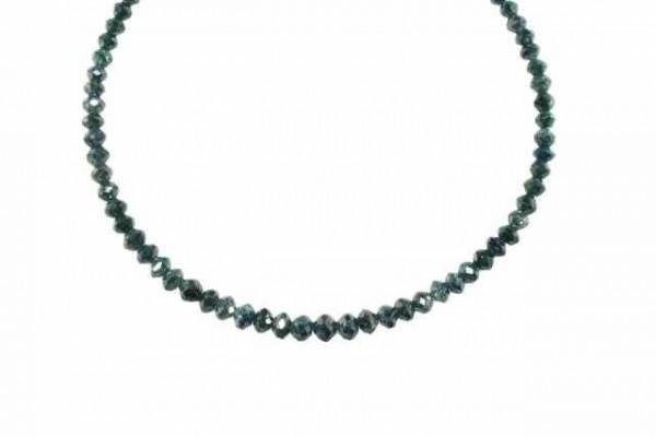 Buttonstrang facettiert 2,8-4,5mm/42cm, Diamant blau/grün behandelt