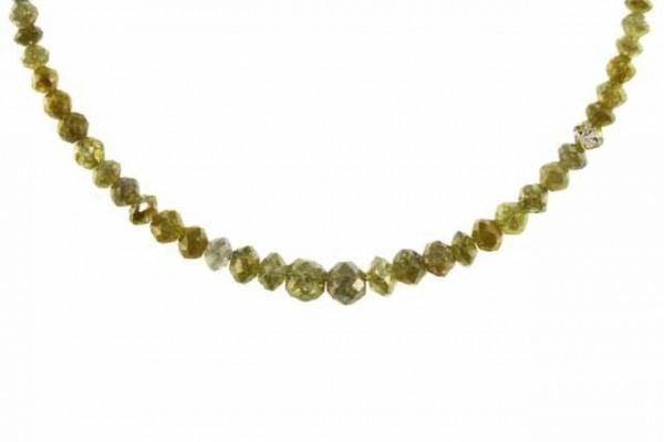 Rondellenstrang facettiert 2,3-5,2mm/42cm, Diamant gelb