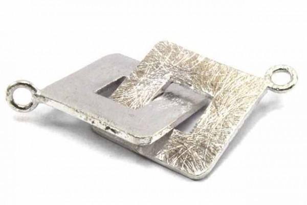 Quadratverschluss 20mm/1,5mm, AG 925 matt