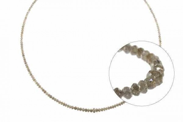 Rondellenstrang facettiert 2-3,1mm/40cm, Diamant braun natur