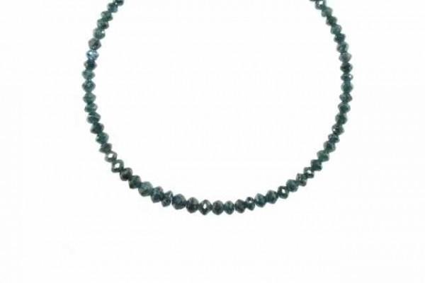Buttonstrang facettiert 3-4,6mm/42cm, Diamant blau/grün behandelt