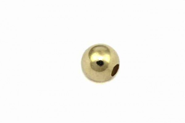 5mm Kugel mit 1,5mm-Loch, GG 14k poliert