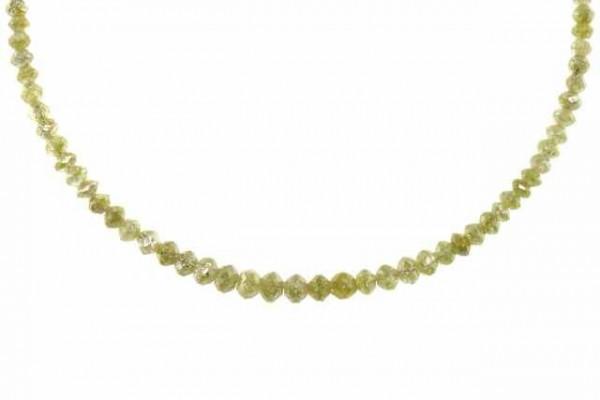 Rondellenstrang facettiert 2,1-3,8mm/42,5cm, Diamant champagner