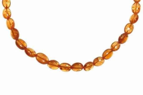 Ovalstrang 2,5x3,5-5x7mm/40cm, Mandarin-Granat