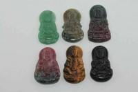 Guan Yin-Amulett mit 1mm Bohrung, 45-50mm, dverse