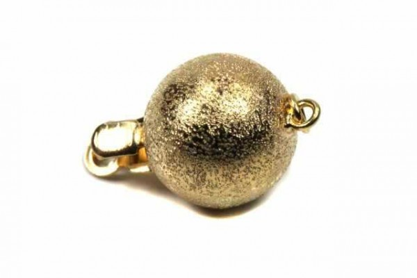 10mm Kugelschließe mit Ring, GG 18k satiniert